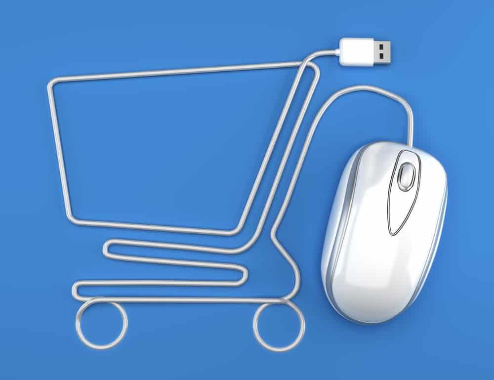 Koszyk zakupowy z kabla od myszki