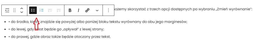 wybór rodzaju listy